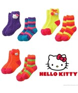 HELLO KITTY 2-Pack Super-Soft Plush Slipper Socks Toddlers/Girls Ages 3-... - $9.89+