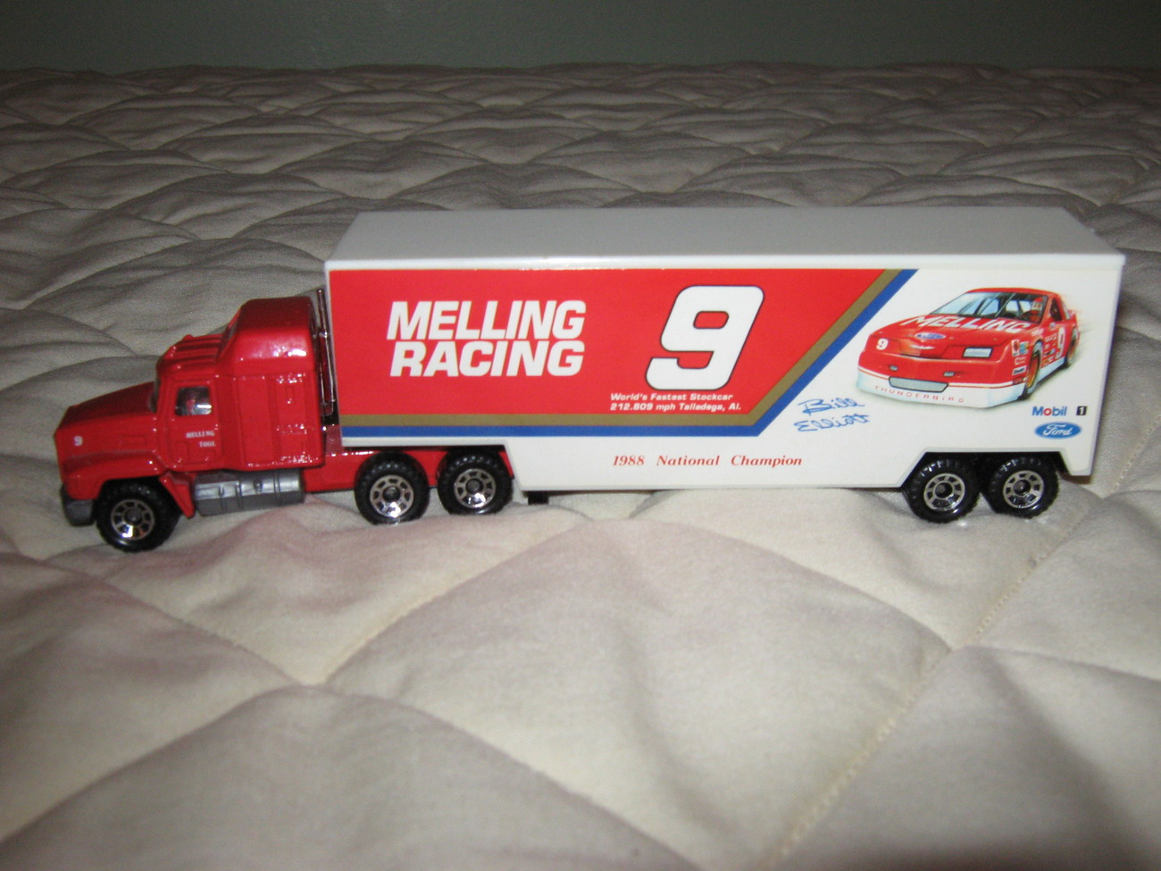 """Melling Racing"" tractor trailer"