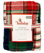 New Pottery Barn Kids Holiday Madras Quilted Standard Sham - $59.35