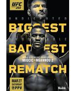 UFC 260 Poster Miocic vs Ngannou 2 Poster MMA UFC Event New Art Print 24... - $10.90+