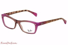 Ray Ban Eyeglasses RB5255 5489 Pink Rectangle Frame 51mm Authentic - $65.96