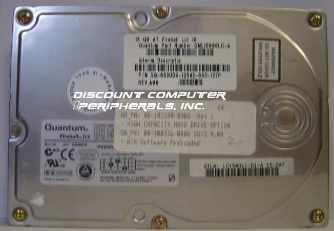 "15GB 3.5"" IDE Drive QML15000LC-A Quantum LC15A Free USA Ship Our Drives Work"