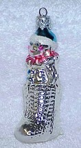 Vintage Glass Christmas Ornament Clown in Boot - NOS - $12.00