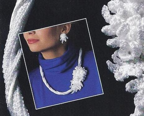 RARE~Annie's Irish Mum & Earrings~Irish Crochet Jewelry Pattern~OOP