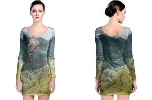 Beaver valley long sleeve bodycon dress