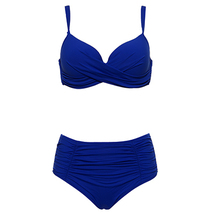 Women High Waisted Push Up Swimwear Bikini Set Bathing Suit Plus Size Beachwear - $24.50