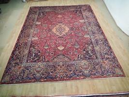 Kashmar 10' x 13' Persian Rug Semi-Antique Wool carpet VASES & NATURE - $955.01