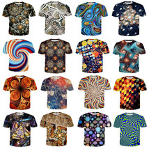 New Fashion Men/Women Colorful Pattern 3D Print Casual T-Shirt Short Sleeve - $33.00