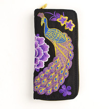 New Flower Embroidered Wallet Purse Handmade Ethnic Flowers Embroidery 2... - $14.80