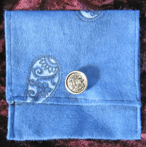 Fiddle Rosin Bag/Blue Bandana/Handcrafted/#2 - $3.99