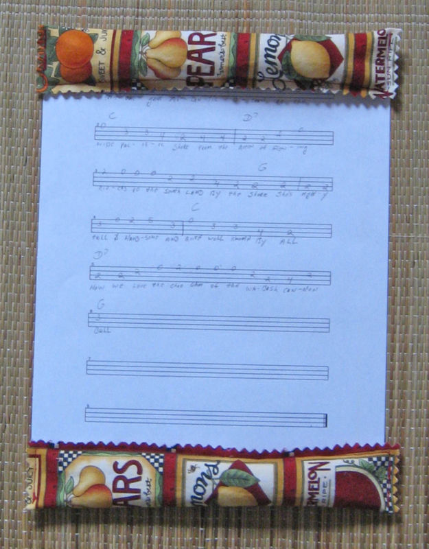Sheet Music Sitter Keeps Papers Still When Breezy/Handcrafted!