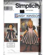 Simplicity 9430 Daisy Kingdom Pattern 3 4 5 6 Dress toddler matching doll  - $7.77