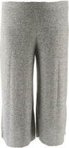 Vintage America Sweater Knit Crop Pant Light Heather Gray Melange 2X NEW... - $20.77
