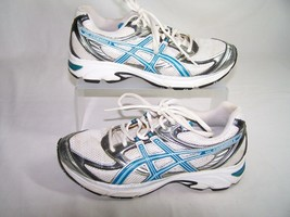 Asics Gel Kanbarra 6 T188N White Blue Running Sneakers Shoes Women's Size 7 - $33.52 CAD