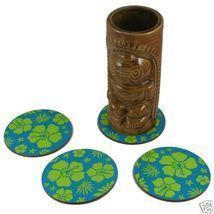 12 Pack of Blue Hawaiian Tiki Bar Luau Coasters - ₨720.61 INR