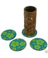 12 Pack of Blue Hawaiian Tiki Bar Luau Coasters - $12.73 CAD