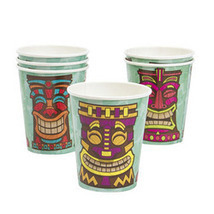 8 Paper Tiki Luau Cups - Cocktail Mug for your Tropical Hawaiian Party! - £4.48 GBP