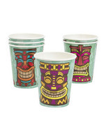 8 Paper Tiki Luau Cups - Cocktail Mug for your Tropical Hawaiian Party! - $110,88 MXN