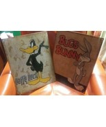 Bugs Bunny & Daffy Duck Retro Panels Wall Art Vintage Weathered Tin Sign... - $17.82