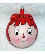 Raggedy Ann Vintage Glass Christmas Ornament - ... - $75.00