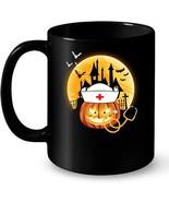 Funny Nurse Pumpkin Halloween Costume For Nurse Ceramic Mug - $13.99+