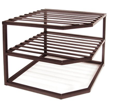 2-Tier Corner Shelf Counter and Cabinet Organiz... - $39.25
