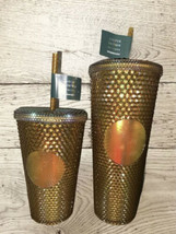 Starbucks Gold Copper Studded Tumbler 50th Anniversary Limited Edition 2... - $178.98