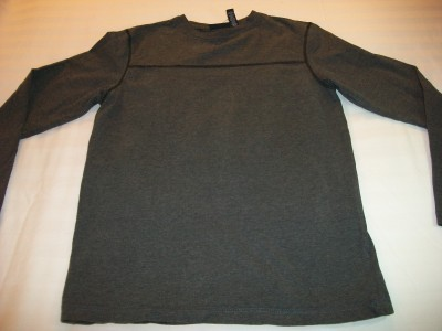 MEN JOHN ASHFORD PULLOVER TOP S SMALL SLATE GREY