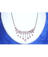 Princess Pink Zircon Necklace Good Girl Look Bad Girl Feel Free Shipping... - $14.99