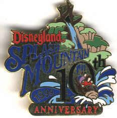 Disneyland L/E Splash Mountain Anniv ride pin/pins