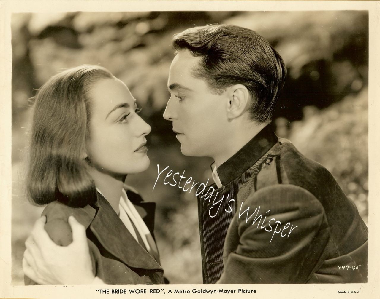 Joan Crawford Franchot Tone 1937 MGM Movie Photograph