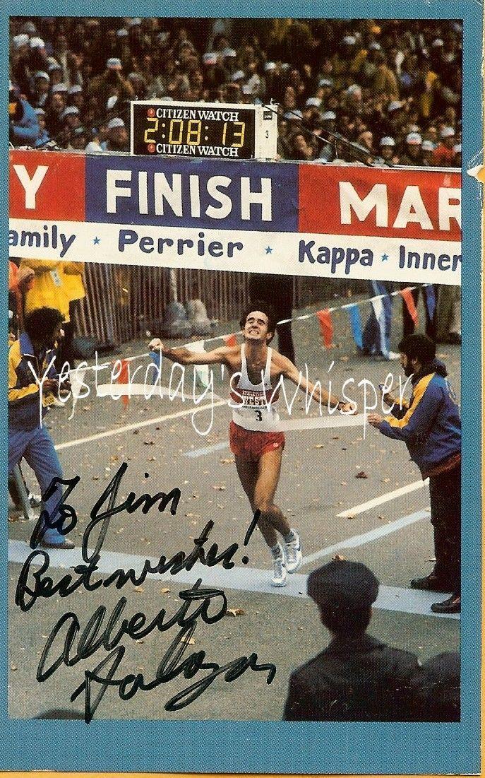 Alberto Salazar Marathon Autographed Vintage1985 PC