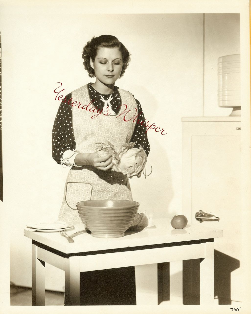 Irene Hervey Vintage Kitchen Scene Clarence Bull Photo