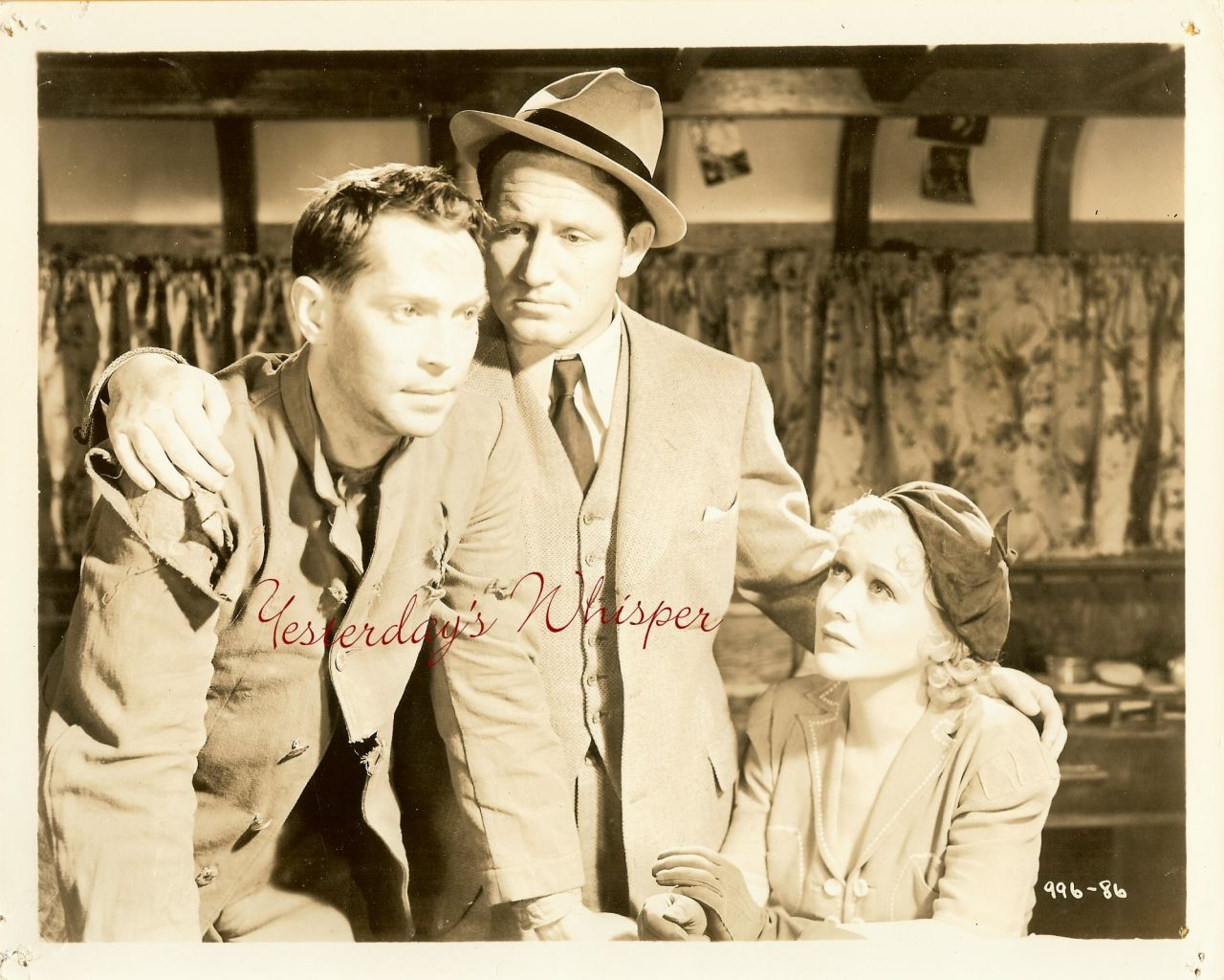 Franchot Tone Spencer Tracy Gladys George 1937 Photo