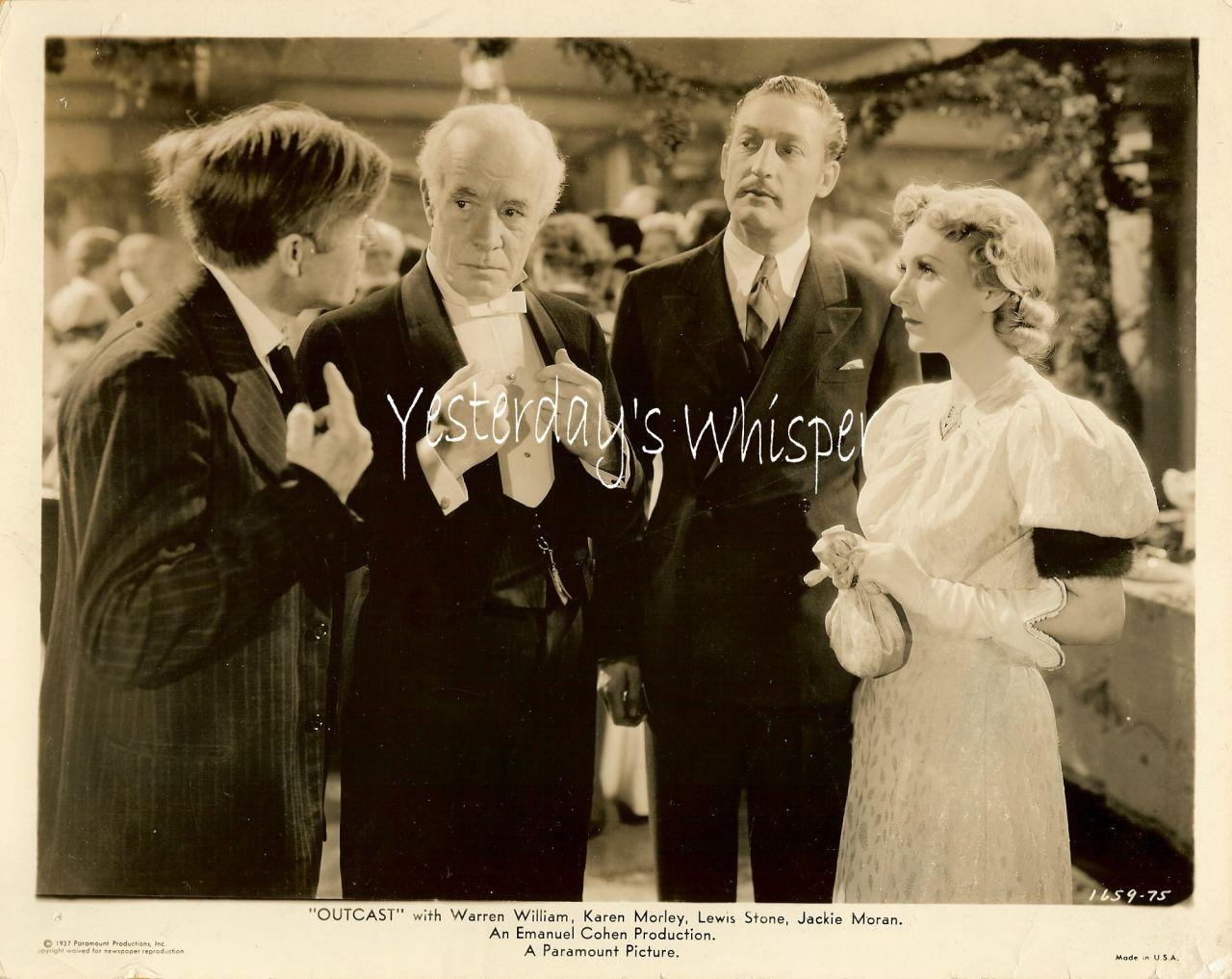 Warren William Karen Morley Outcast 1937 Movie Photo