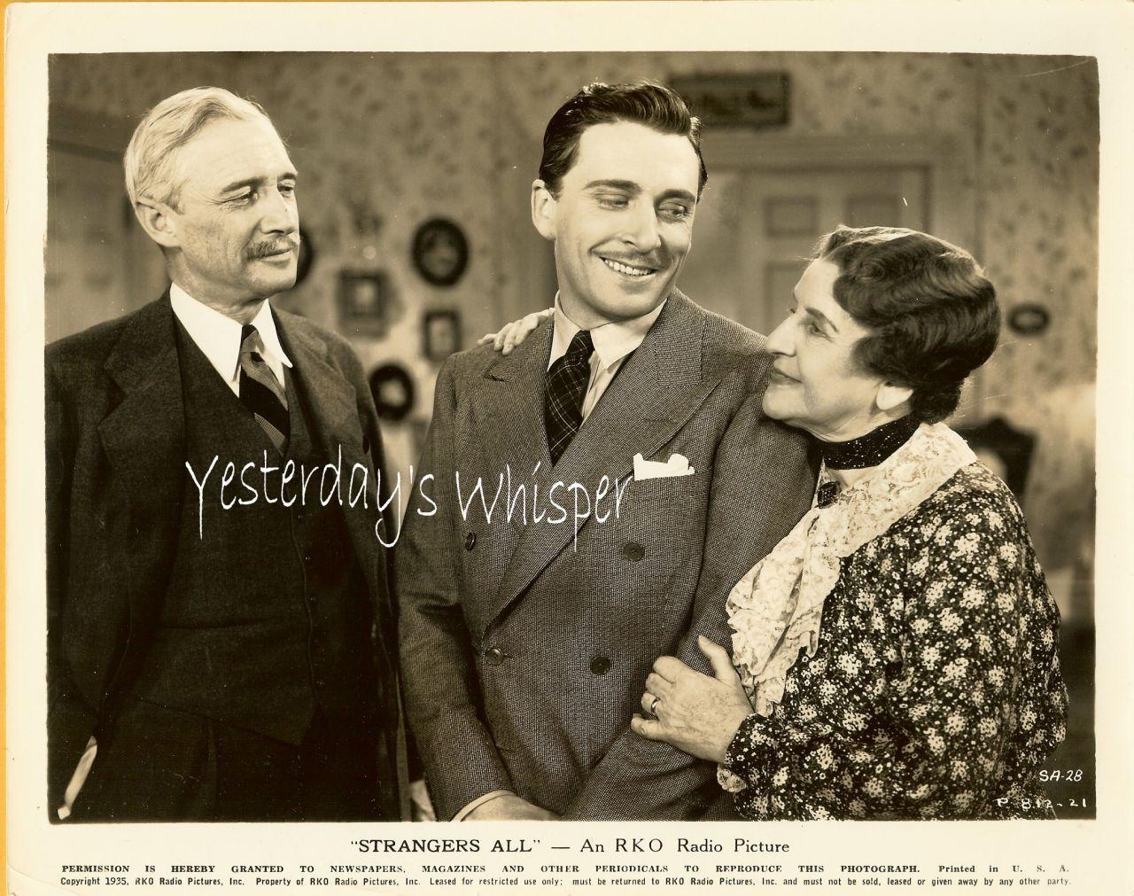 May Robson Preston Foster Strangers All 1935 Film Photo