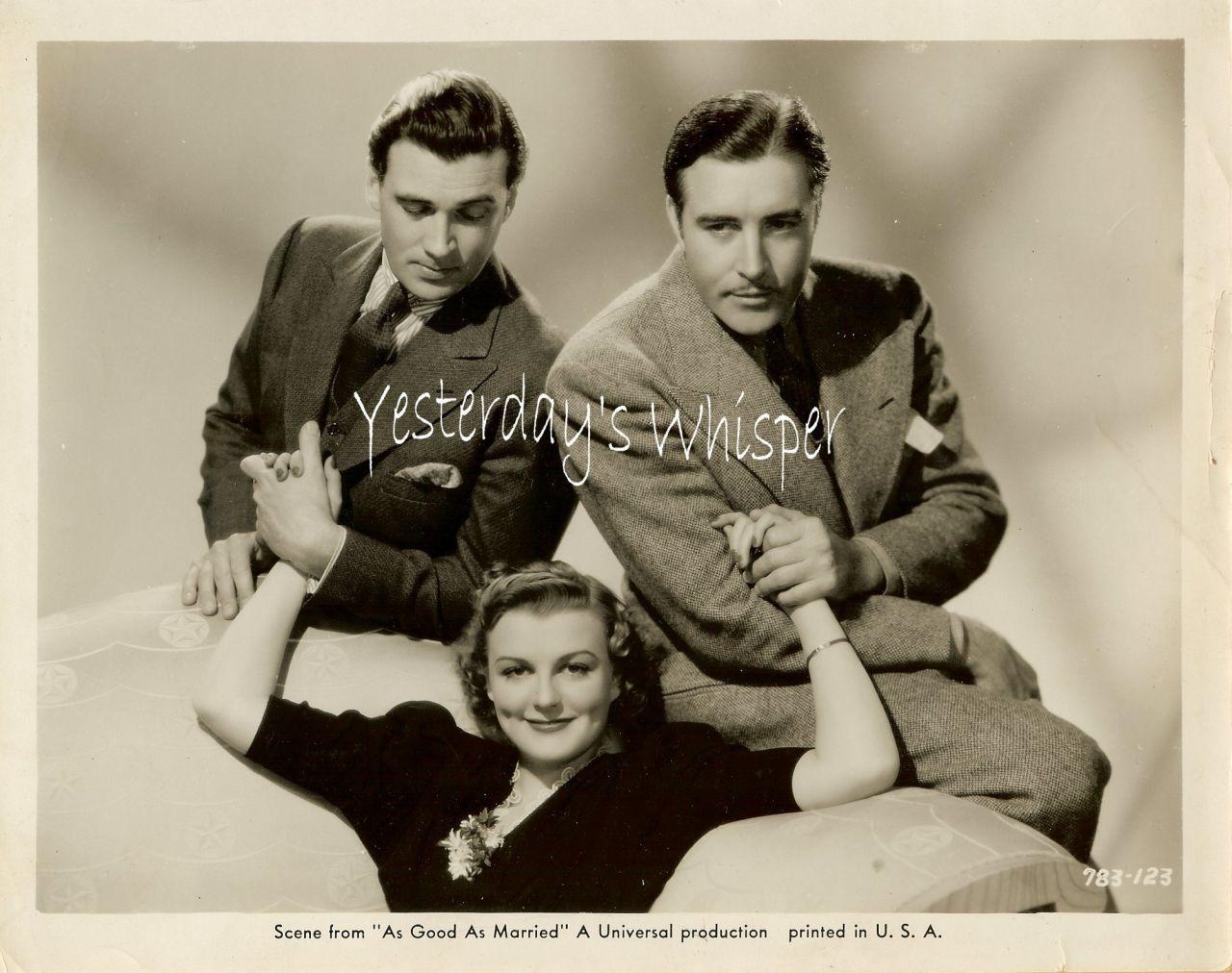 Walter Pidgeon Doris Nolan 1930s Original Promo Photo