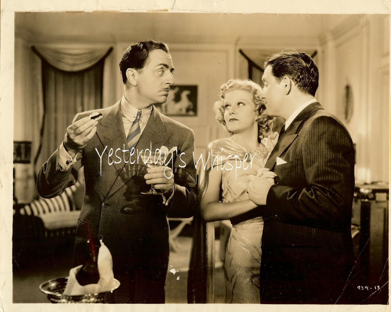 Jean Harlow William Powell Libeled Lady 1936 Film Photo