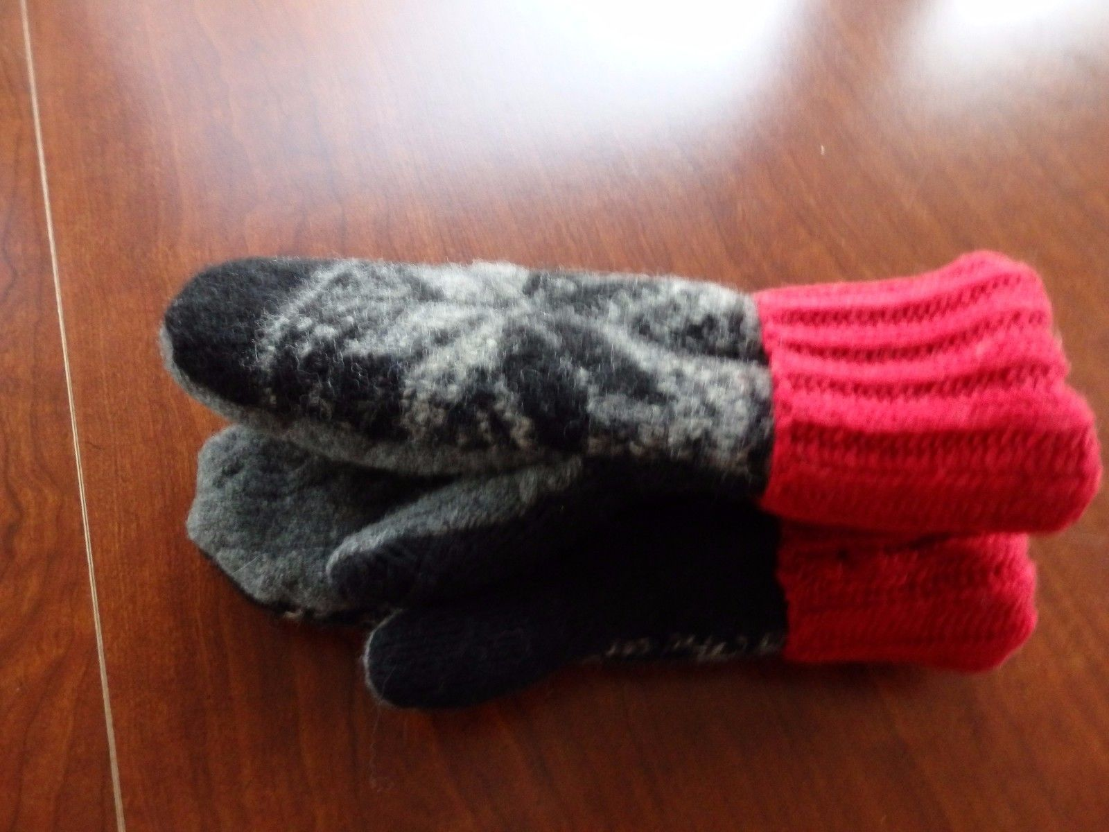 Christmas Gift Wool Sweater mittens Handmade  one size fits most