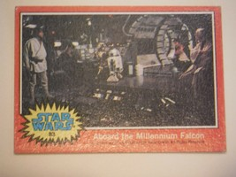 Star Wars Series 2 (Red) Topps 1977 Trading Card # 83 Aboard The Millennium Falc - $1.49