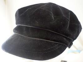 Nine West Velour Cabbie Newsboy Hat One Size Black NWT NC5900034 - $19.59