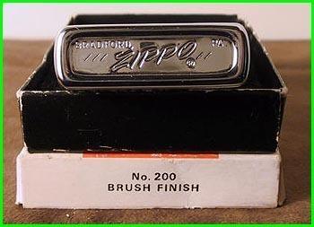 Zippo 1977 Advertiser Canon F1 Model 200 Brush Finish Boxed Mint-NOS