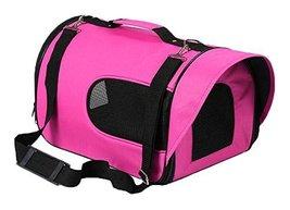 Travel Dog Carrier Bag Handbag- Rose Red - $37.35