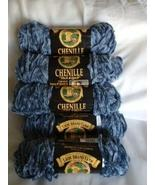 Five Skeins Lion Brand Chenille Thick & Quick Yarn - Dusty Blue New - $24.99