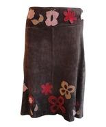 Arden B suede skirt size 4 brown 3D butterflies - $19.95