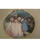 GLIMPSE OF MUNCHKINS collector plate WIZARD OF OZ 50th Anniversary BLACK... - $31.99