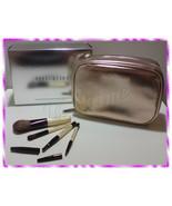 NIB Bobbi Brown Copper Diamond Cosmetic Bag with 4pcs Mini Brushes Set - $64.99