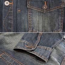 Men's Classic Long Sleeve Cotton Button Up Empire Denim Jean Jacket Size 2XL image 3