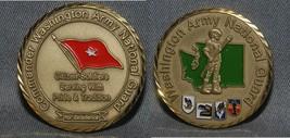 Washington Army National Guard Brigadier Commanding General Challenge Coin Nice! - $19.79