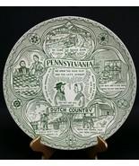 Vintage Pennsylvania Dutch Country Plate Souvenir travel amish Deitsch farm - $14.23